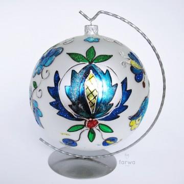 Ręcznie malowana folkowa bombka kaszuby 15
