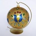 Folkowa ręcznie malowana bombka żukowska 15 cm