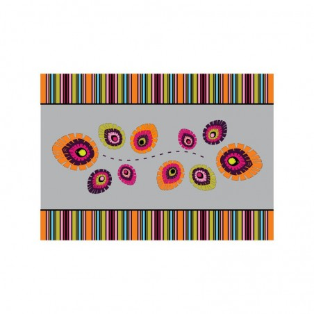 Serweta folk elements szara 31 x 43 cm