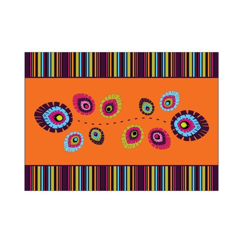 Bieżnik folk elements pomarancz 31x43 cm