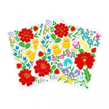 Kokofolk -folkowe podkładki pod kubek krakowskie kwiatye