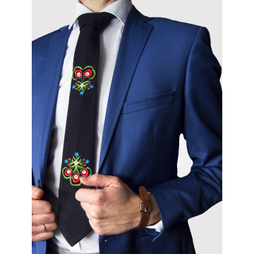 Folk krawat haft góralski