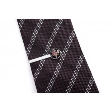 Spinka do krawata czarna parzenica