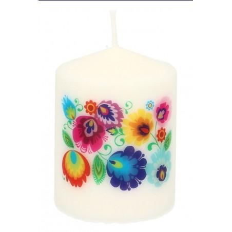 Świeczka ludowe kwiaty