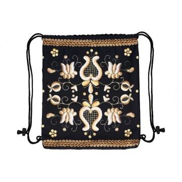 Folkowy worek - plecak złotnica