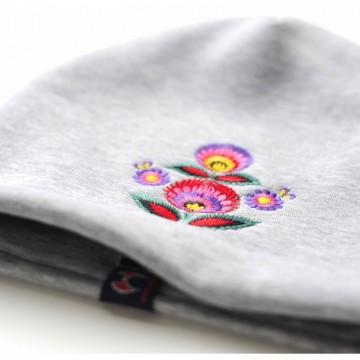 Folk czapka haft łowicki
