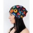 Kokofolk - Folk czapka kwiatowy motyw łowicki