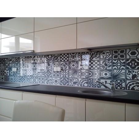 Folkowa naklejka na ścianę mozaika