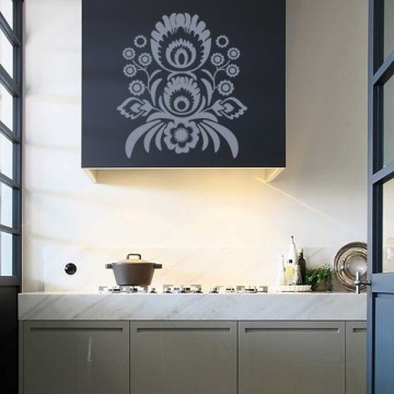 Kokofolk - Naklejka na ścianę łowicki kwiat