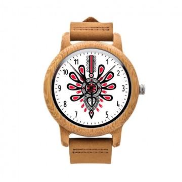 Drewniany zegarek na rekę ludowa parzenica Podhale