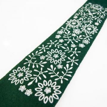 Folkowy krawat wełniany haft krakowski