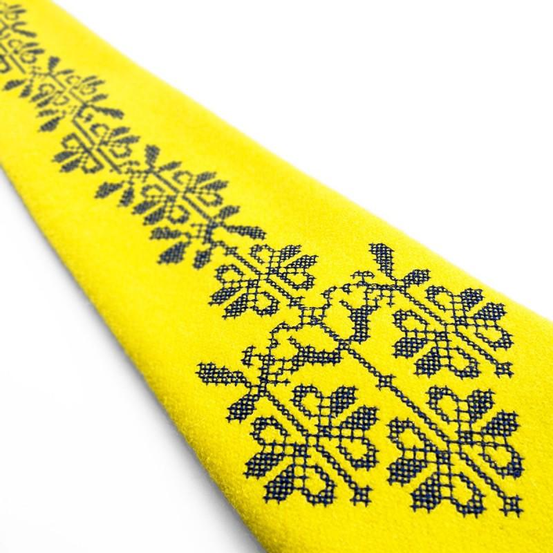 Folk krawat  ludowy haft opoczyński