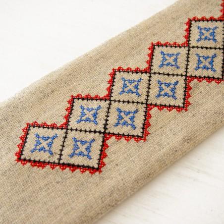 Folk krawat ludowy haft kielecki