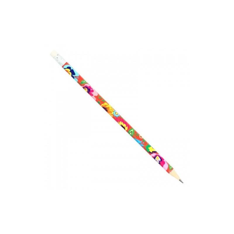 Folk ołówek łowicz koralowy