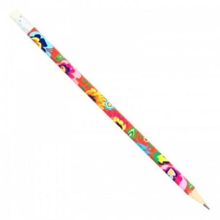 Folk ołówek łowicki koral