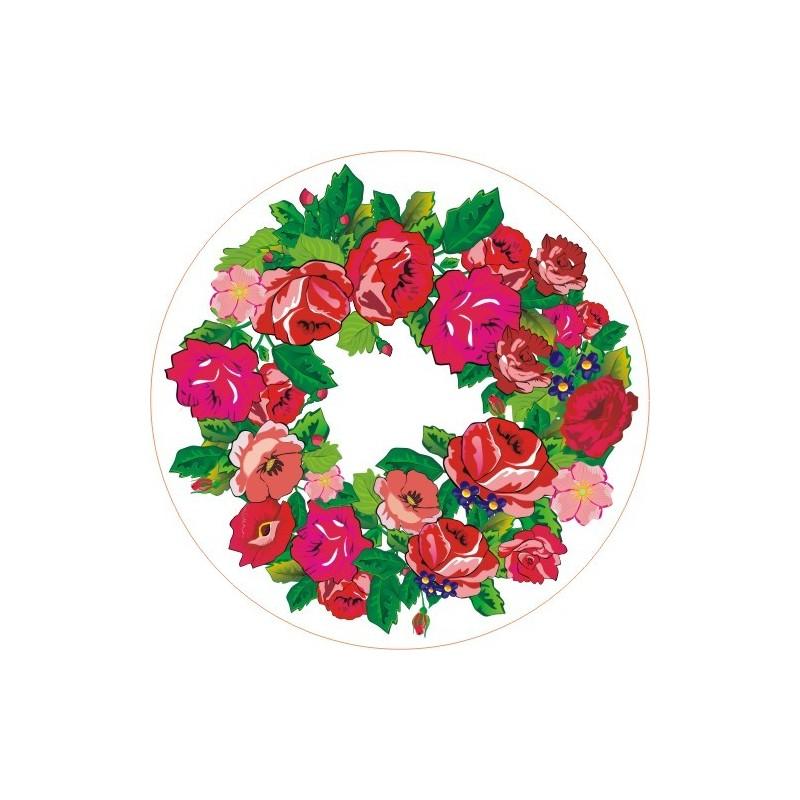 Naklejka ludowa podhale róże