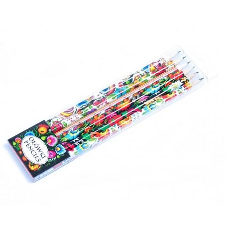 Ołówki ludowe wzory kpl 6 szt