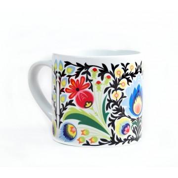 Filiżanka folk kwiat łowicz