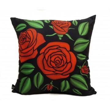 Folkowa poduszka roże