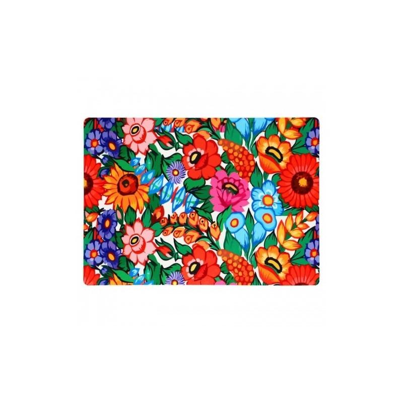Ludowa podkładka pod talerz kwiaty zalipie