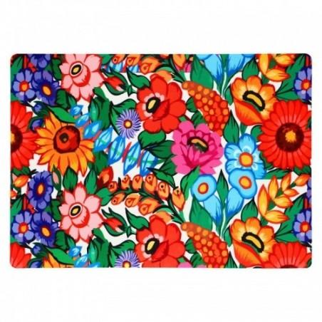 Folk mata pod talerz zalipie kwiaty