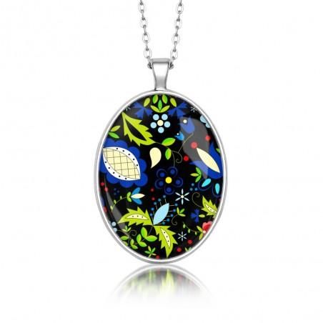 Medalion owalny czarny kaszuby
