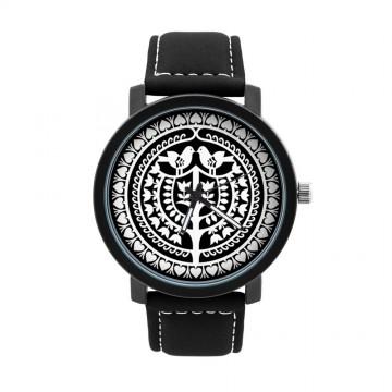 Folk zegarek męski kurpiowska wycinanka