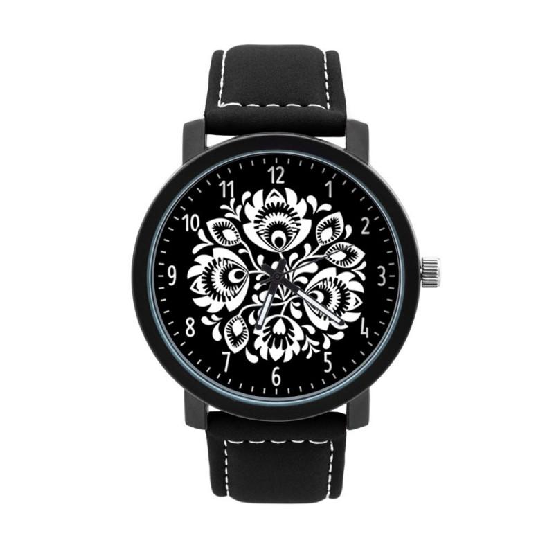 Zegarek męski ludowe kwiaty łowicz