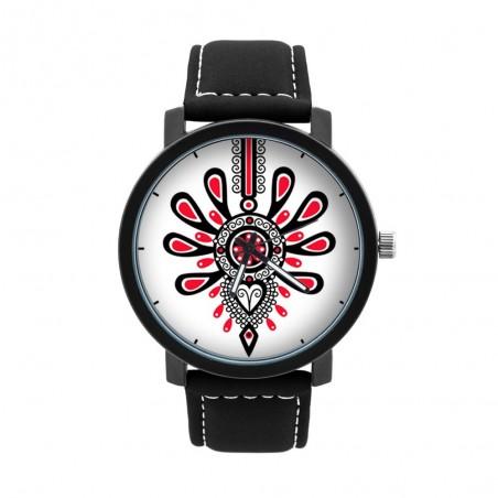 Zegarek męski folklor parzenica biały