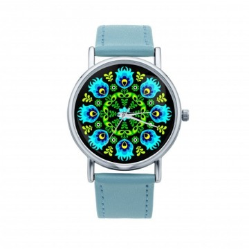 Folk zegarek ludowa wycinanka otok