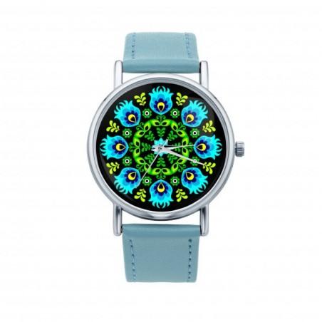Zegarek ludowa wycinanka otok