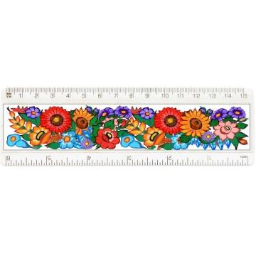 folkowa linijka ludowy motyw kwiatowy zalipie