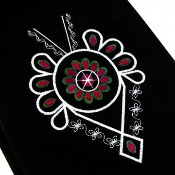 Folk worek z ludowym haftem góralskim