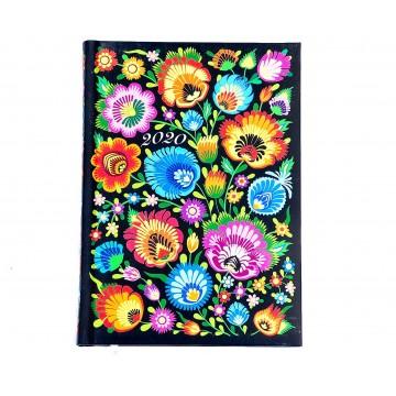 Folk kalendarz książkowy  ludowe kwiaty