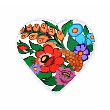 Folkowy magnes z motywem kwiatowym z zalipia