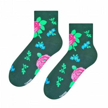 Skarpetki z ludowym wzorem sląskim zielone