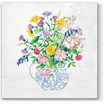 Serwetki papierowe na stół i decoupage z motywem kwiatowym - bukiet ludowy