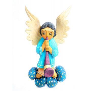 anioł ludowy - rzeźba w drewnie ludowego rzeźbiarza andrzeja wojtczaka