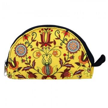 portfel z kaszubskim wzorem kwiatowym, inspirowanym kaszubskim haftem szkoła borowiacka