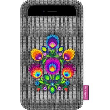 Folkowe etui na smartfon Jagna, ludowy wzór kwiatowy