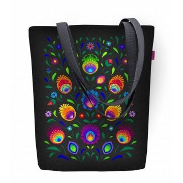 Folkowa torba na zakupy z ludowym wzorem kwiatowym