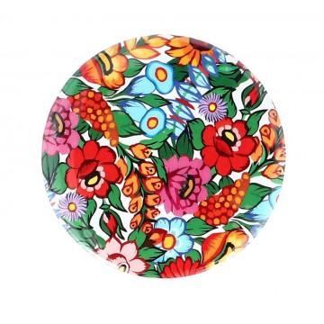 folkowa naklejka kwiaty zalipie