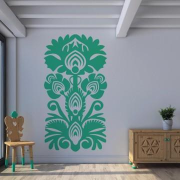 Naklejka na ścianę w ludowe wzory - kwiatowe