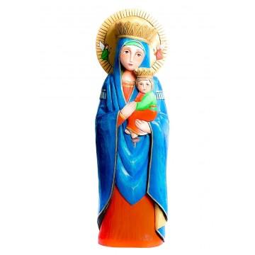 madonna z dzieciątkiem - rzeźba ludowa