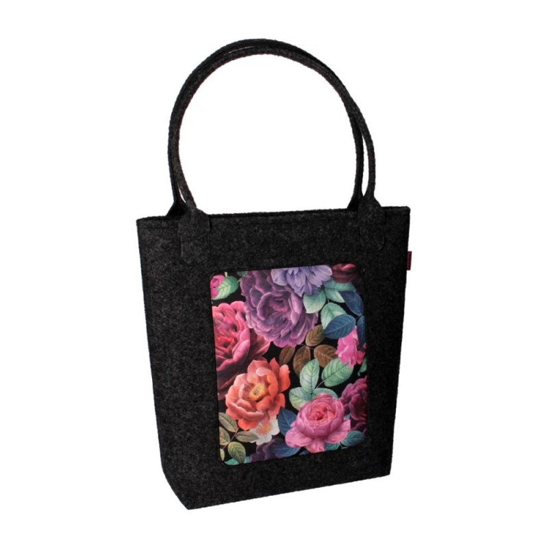 filcowa torba swing kwiaty
