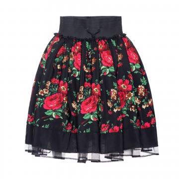 ludowa spódniczka w góralskie kwiaty z ludowego stroju polskiego