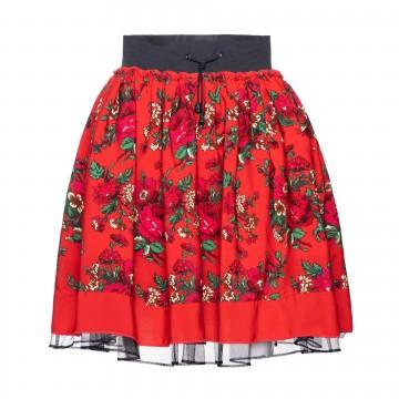ludowa spódnica z kwiatowym wzorem z ludowego stroju