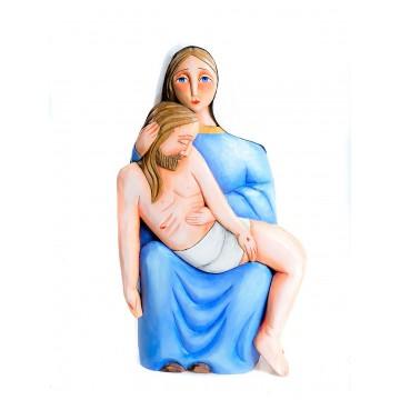 Ludowa rzeźba Pieta -