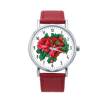 zegarek ludowe kwiaty góralskie