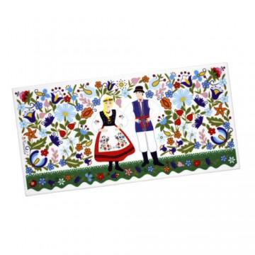 ceramiczny dekor kaszubska para ludowa
